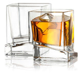 Carre Square Whiskey Glasses - 10 oz - Set of 2