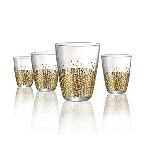 Confetti Gold DOF Glass, 10 oz, Set of 4
