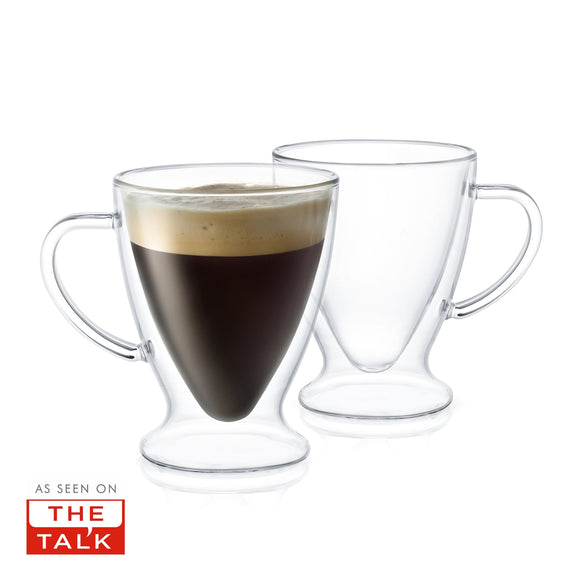 Declan Double-Wall Espresso Mugs - 5 oz - Set of 2