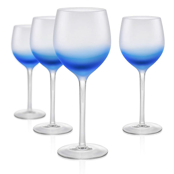 Frost Blue Goblet, 17 oz, Set of 4