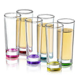 Hue Shot Glass - Various Colors 2 oz - Set of 6