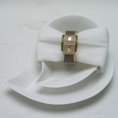 Napkin Ring Green Yellow Gold