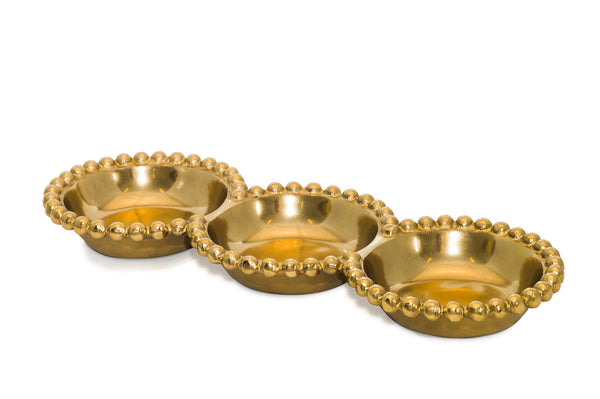 Gilded Bdd 3-Section Bowl