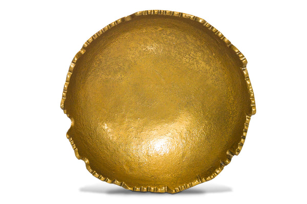 Gilded Torn Textured  Bowl