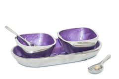 Purple Tray with Bowl & Spoon