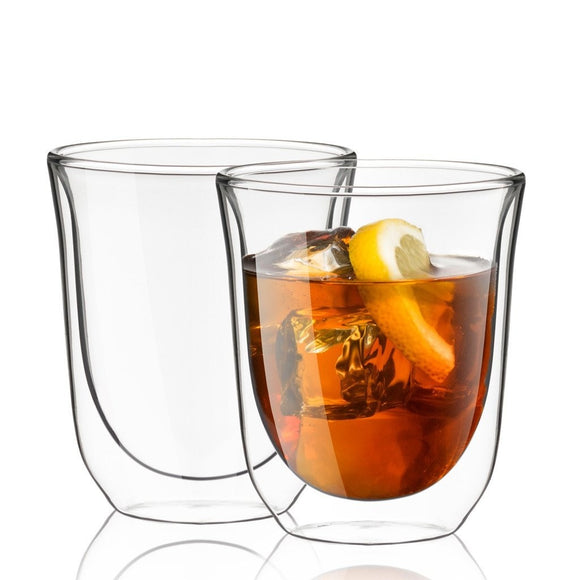 Levitea Double-Wall Insulated Glass Cups 8.4 oz - Set of 2