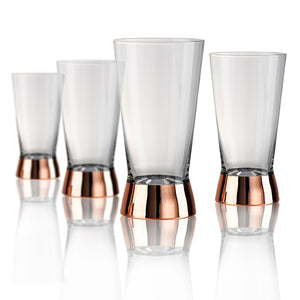 Rose Stem Highball Glass, 15 oz, Set of 4