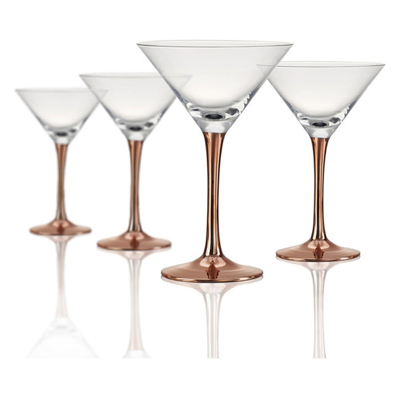 Rose Stem Martini Glass, 8 oz, Set of 4