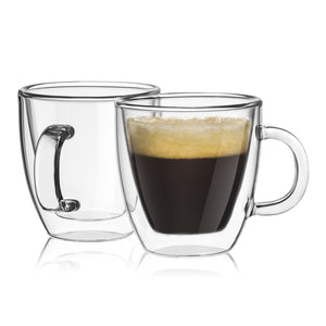 Savor Double-Wall Insulated Espresso Cups 5.4 oz - Set of 2