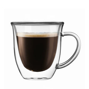 Serene Double-Wall Insulated Glass Mug 7.4 oz - Set of 2