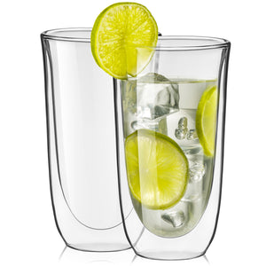 Spike Double-Wall Insulated Glasses 13.5 oz - Set of 2