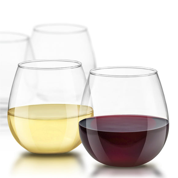 Spirits Crystal Stemless Wine Glasses - 15 oz - Set of 4