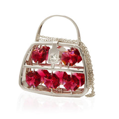 Purse with Red and Clear Crystals