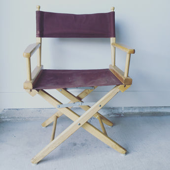 Maroon Directors Chair