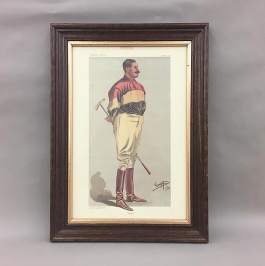 Vanity Fair 1800's Lithograph Art Print Polo Player Horses