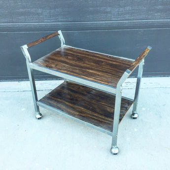 Vintage Low Bar Cart