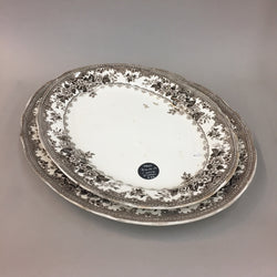 Cowlyn Late Meyers Black and White Floral Platters Plates