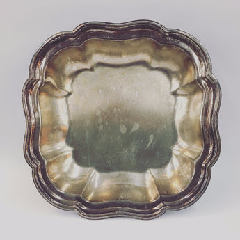 Silver-Plated Shallow Serving Bowl
