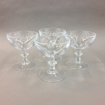 Cristal D'Arques Rambouillet Pattern Crystal Glasses (4)