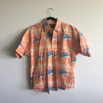Vintage Orange Marlin Shirt