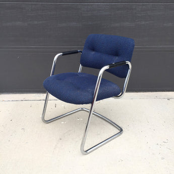Vintage Navy Blue Cantilever Steelcase Chair