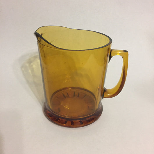 Vintage Amber Glass Jug Pitcher