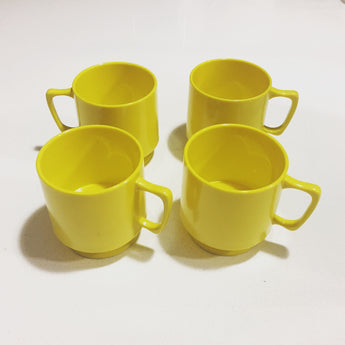 Four Plastic Camping Coffee Mugs