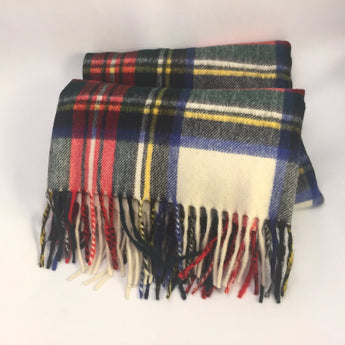 Plaid Scottish Wrap / Large Scarf