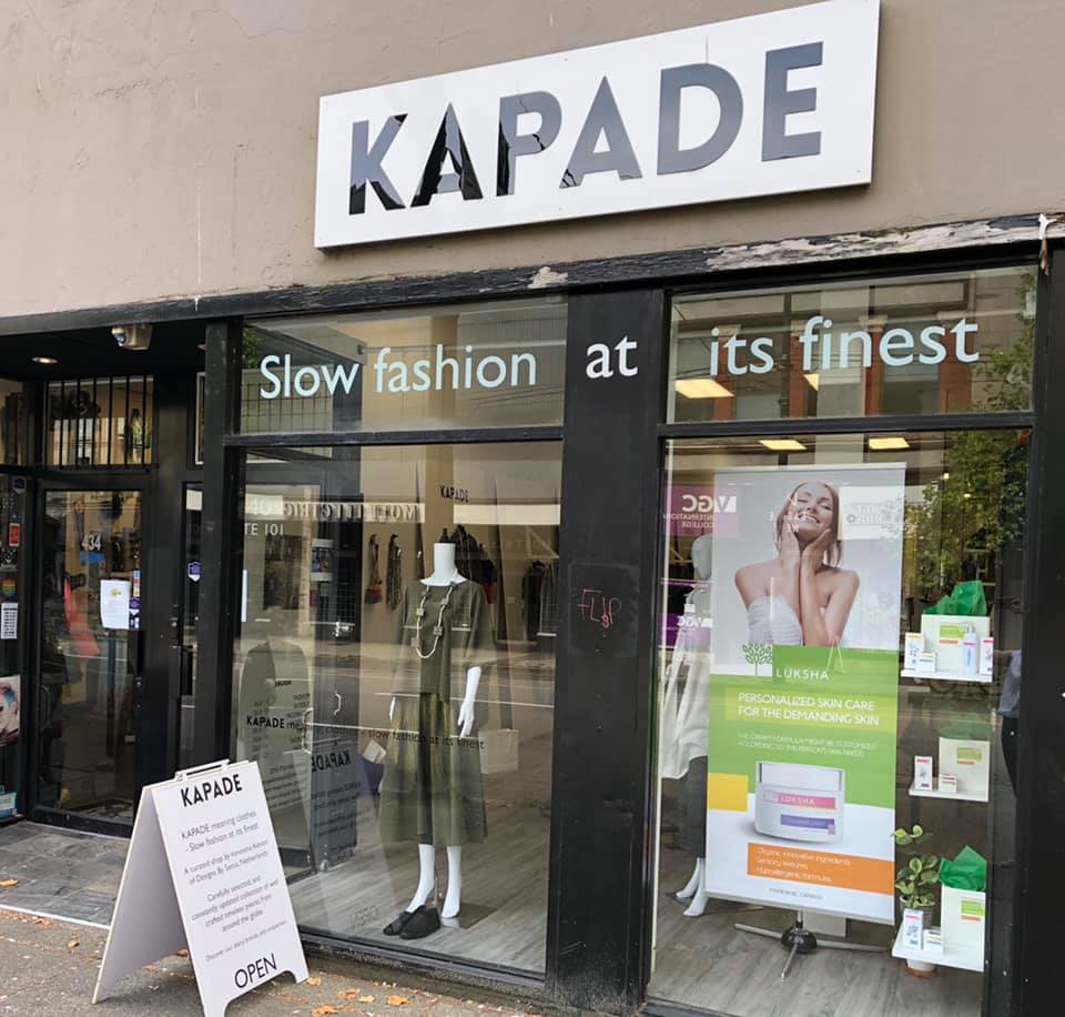 Find us in Kapade Fashion Store, downtown Vancouver!