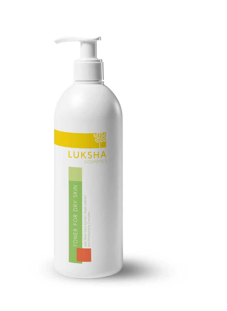 Toner for dry skin with Aloe Vera Extract, Algae extract, and Moisturizing Complex