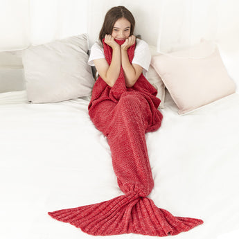 Mermaid Blanket (Hot Red)