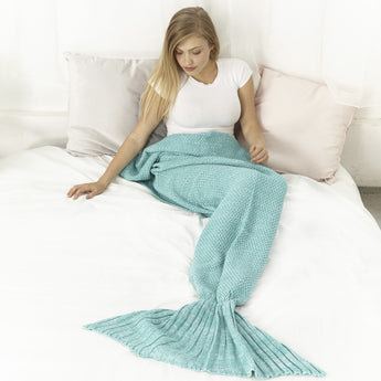 Mermaid Blanket                                        (Aqua Green )