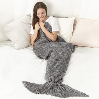 Mermaid Blanket (Ash Grey)