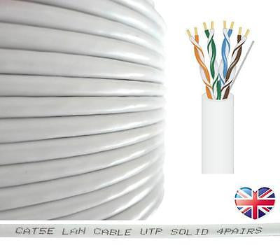 RosenetSys® Cat5e White SOLID COPPER Ethernet Network Cable 2m 5m ...