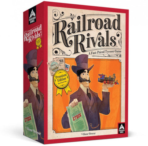Railroad Rivals Premium Wood Edition - Boardom Games