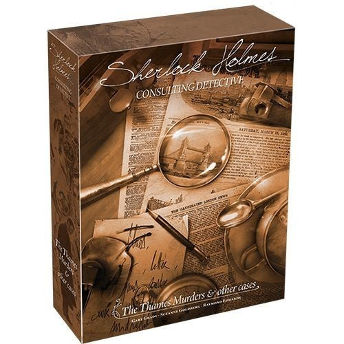 Sherlock Holmes Consulting Detective The Thames Murders & Other Cases - Boardom Games