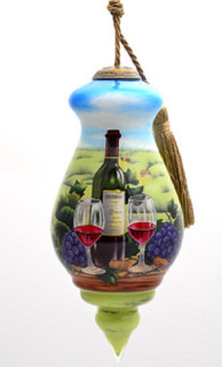 Vineyard Hand Painted Christmas Ornament