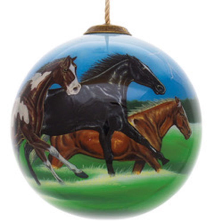 Horse Power Hand Painted Christmas Ornament