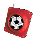 Red Football Soccer Radio and cell phone charger