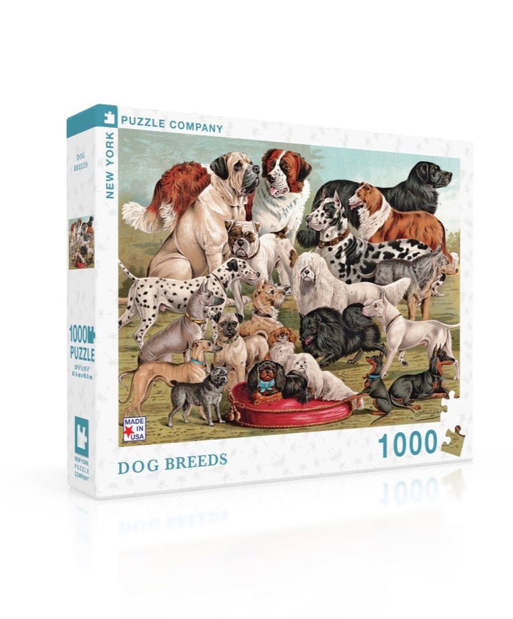 New York Puzzle Company - Dog Breeds 1000 pc Puzzle