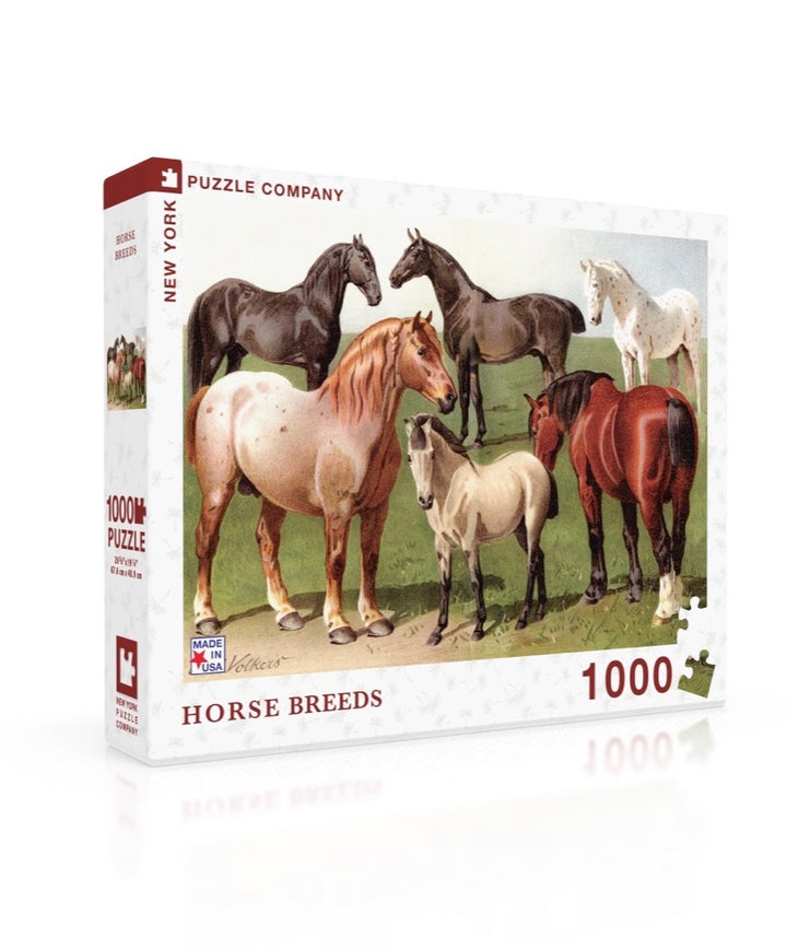 New York Puzzle Company - Horse Breeds 1000 pc Puzzle