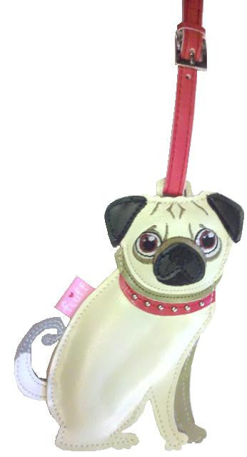 Dog Luggage Tags - Pug