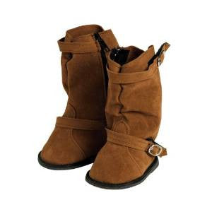 Brown Slouchy Boots with Buckle Fits 18