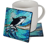 Angelstar Cozenza Collection Orca Whale Coaster Set-4""