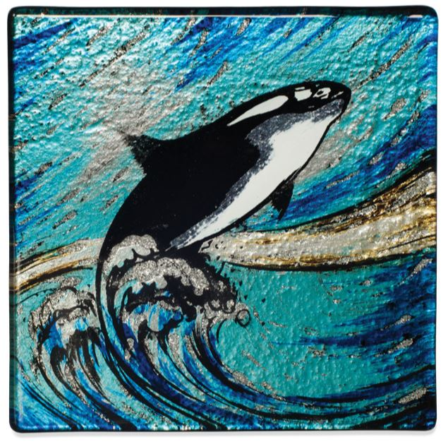 Angelstar Cozenza Collection Orca Whale Coaster Set-4