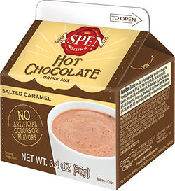 Aspen Salted Caramel Hot Chocolate Mix, 3.5oz Carton
