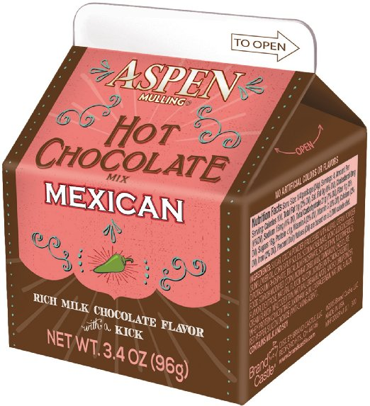 Aspen Mexican Hot Chocolate Mix, 3.5oz Carton