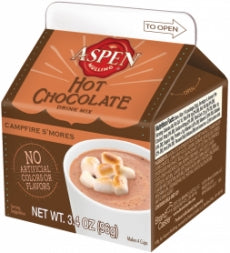 Aspen Campfire Smores Hot Chocolate Mix,3.5oz Carton