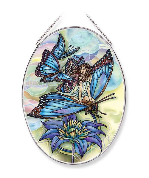 Wishes Have Wings Large Oval Sun Catcher
