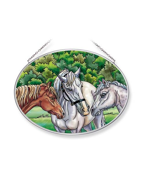 The Horse Whisperers Medium Oval Sun Catcher